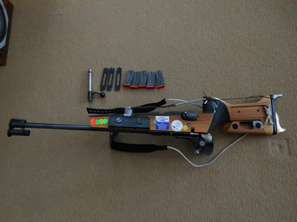 Canadian biathlon rifle